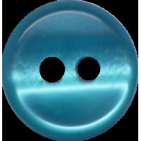 Button, 11mm, round, green/blue