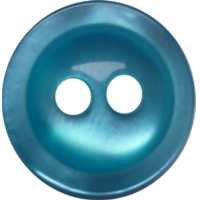 Bouton, 11mm, rond, vert/bleu