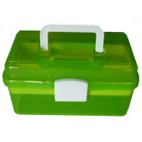 Sewing box, 26cm, plastic, green