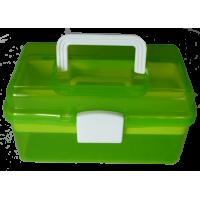 Boîte à coudre, 26cm, plastique, vert