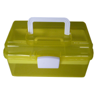 Sewing box, 26cm, plastic, yellow