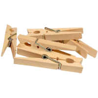 Wooden clothespin, 45mm - per 4pcs