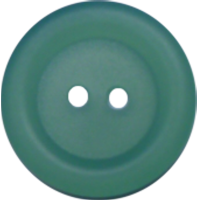 Button, 18mm, round, green (see through)