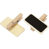 Little blackboard with clothespin, 40 x 20mm