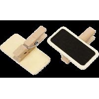 Mini schoolbord met knijper, 40 x 20mm
