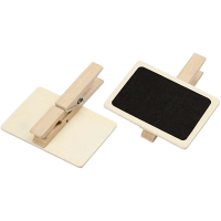 Little blackboard with clothespin, 68 x 47mm