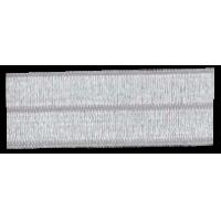 Bias binding, elastic, 20mm, shiny, white - per meter