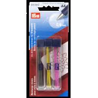 Recharge mines pour stylo à mines, jaune/noir/fuchsia
