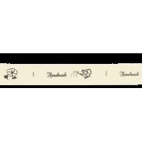 "Lint ""Handmade"", per 25cm"