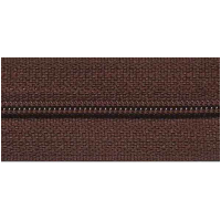 Zipper by the meter, nylon, brown (570) - 53cm