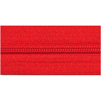Zipper by the meter, nylon, red (519) - per 10cm