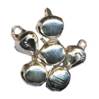 Little bells, silver-coloured, 10mm (per 10)