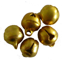 Belletjes, geel, 10mm (per 5)