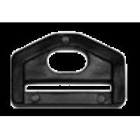 D-ring, 30mm, plastic, zwart