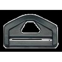 D-ring, 38mm, plastic, black