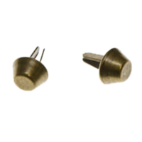 Tasvoetjes, brons, 10mm (per 2)