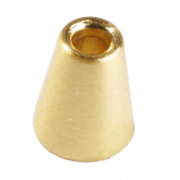 Cord ends, gold, 2pce