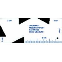 Zoommaatje, met cm-schaal