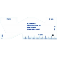 Seam measure, with cm scale