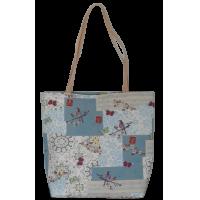 Shoulder bag, butterflies and birds