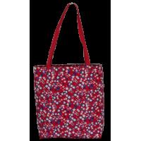 Shoulder bag, red with stars