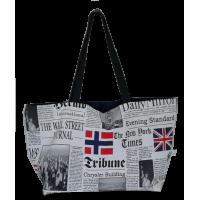 Shoulder bag, newspaper