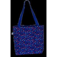 Shoulder bag, blue with umbrella's
