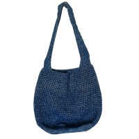 Crochet Shopper, blue