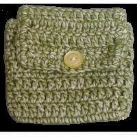 Crochet envelope, green
