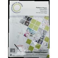 Patroonpapier, medium transparant, 100cm x 120cm, 4 vellen