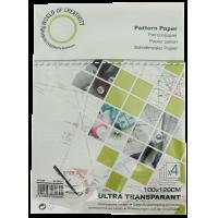 Pattern paper, ultra transparant, 100cm x120cm, 4 sheets
