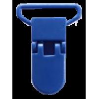 Clips pour chaines des sucette, 30mm x 42mm, bleu