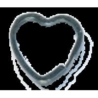 Anneau pour porte-clef, coeur, 31mm