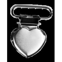 Clip for braces, 25mm, heart
