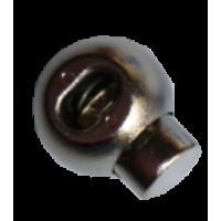 Koordstoppers, met 1 gaatje, rond, 23mm, zilver