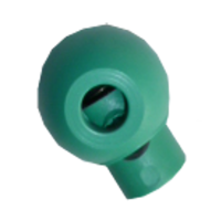 Cord stops, with 1 hole, rond, 23mm, green