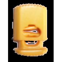 Koordstoppers, met 1 gaatje, plat, 25mm, oranje