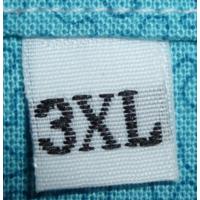 Maatlabels wit - 3XL (per 10)