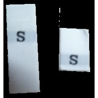Size labels white - S (per 10)