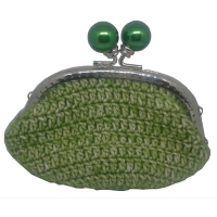 Portemonnee crochet, vert clair