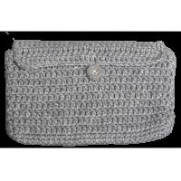 Crochet envelope, gray
