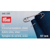 Safety pins with coil, hardened steel, 57mm, No 4