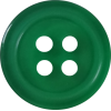 Button, 13mm, round, green