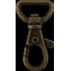 Musketonhaak, klein, 4x1,5cm, brons, ronde haak