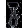 Musketonhaak, klein, 4x1,5cm, zwart, ronde haak