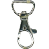 Musketonhaak, klein, 4x1,5cm, zilver, ronde haak