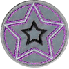 Application star, reflective, pink