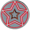 Application star, reflective, red
