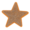 Application star, gold with sequins, 5.8cm