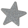 Application star, silver with sequins, 5.8cm
